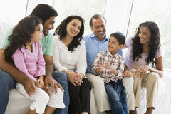 Middle Eastern family sitting together Royalty Free Stock Photography