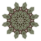 Middle eastern floral pattern motif Stock Photo