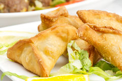 Middle eastern food fatayer stuffed in spinach Royalty Free Stock Image