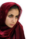 Middle eastern girl. Middle eastern beauty in a scarf Stock Images