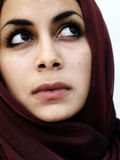 Middle eastern girl. Middle eastern beauty in a scarf Royalty Free Stock Image