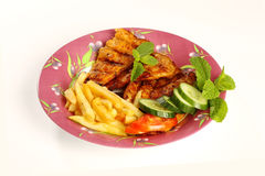 Middle eastern grilled hamour fish Royalty Free Stock Images