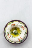 Middle eastern hummus houmous chickpea dip starter snack food se Stock Photography