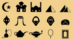 Middle Eastern icons Stock Images