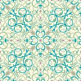 Middle eastern inspired seamless tile design royalty free illustration