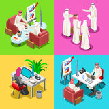Middle Eastern Isometric People Stock Images