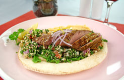 Middle Eastern Lamb Pita Bread Royalty Free Stock Photography
