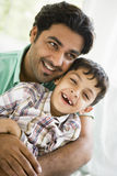 Middle Eastern man with his son Stock Photo