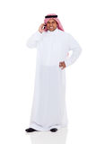 Middle eastern man phone Royalty Free Stock Images