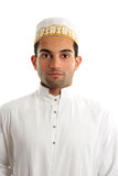 Middle eastern man wearing cultural dress. A middle eastern arab man wearing traditional ethnic cultural clothing stock image