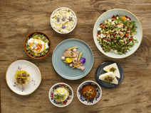 Middle eastern or mediterranean dishes royalty free stock photo