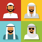 Middle Eastern people avatar Stock Photos