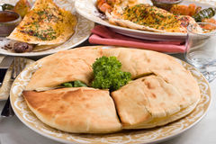 Middle eastern pita bread Royalty Free Stock Images