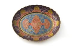 Middle eastern plate Stock Image