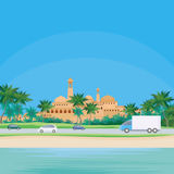 Middle Eastern seaside town Stock Image