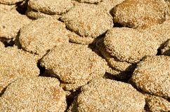 Middle Eastern Sesame Cookies Royalty Free Stock Photo