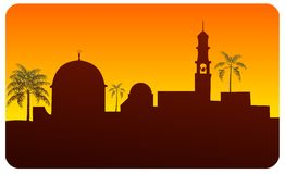 Middle Eastern Skyline Royalty Free Stock Photography