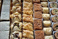 Middle Eastern Sweets Royalty Free Stock Images