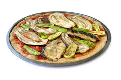 Middle eastern vegetarian pizza Stock Photography