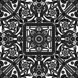 Middle eastern vintage pattern. Beautiful middle eastern vintage seamless tile design element stock illustration
