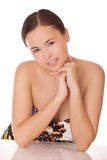 Middle eastern woman with healthy clean skin Royalty Free Stock Photos