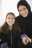 A Middle Eastern woman with her daughter Royalty Free Stock Photos