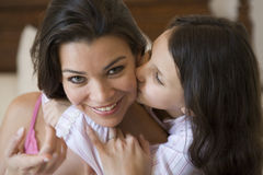 A Middle Eastern woman with her daughter Royalty Free Stock Photography
