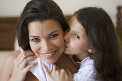 A Middle Eastern woman with her daughter Stock Photo