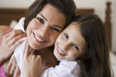 A Middle Eastern woman with her daughter Stock Photos
