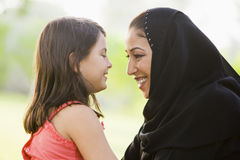 A Middle Eastern woman and her daughter Royalty Free Stock Photo