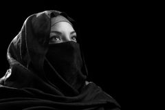 Middle Eastern Woman Looking Up Stock Images