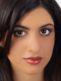 Middle Eastern Woman Portrait Closeup Stock Photography