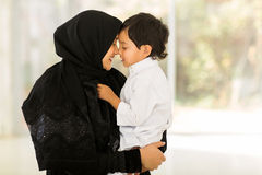 Middle eastern woman son Royalty Free Stock Images