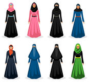 Middle eastern woman vector Royalty Free Stock Photos