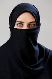 Middle Eastern woman wearing the veil Stock Image