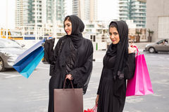 Middle Eastern Women with shopping Bags Royalty Free Stock Image