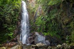 Middle Fall of the Ng Tung Chai Waterfalls in Hong Kong Stock Photography