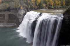 Middle Falls. Side view of middle falls at Letchworth State Park, New York in the autumn Royalty Free Stock Photos