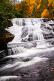Middle Falls. In DuPont State Park.  This falls is best known for its use in the Hunger Games Stock Images