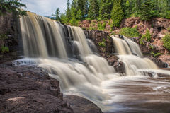 Middle Falls at Gooseberry Falls State Park 2 Royalty Free Stock Images
