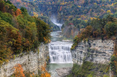 Middle Falls At Letchworth State Park Stock Photography