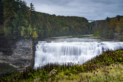 Middle Falls - Letchworth State Park, New York. A stunning view of Middle Falls at Letchworth State Park in the Finger Lakes region of western New York Royalty Free Stock Image