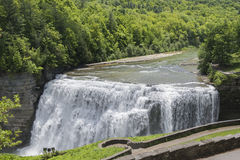 The Middle Falls At Letchworth State Park. In New York Viewed From The Glen Iris Inn Royalty Free Stock Image