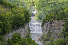 The Middle Falls At Letchworth State Park. In New York Viewed From Inspiration Point Royalty Free Stock Image