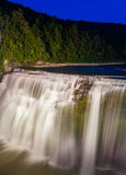 Middle Falls at night, Letchworth State Park, New York. Stock Image