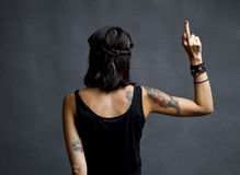 Middle finger Royalty Free Stock Image