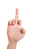Middle finger Stock Image