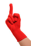 Middle finger hand gesture Royalty Free Stock Images
