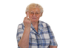 Middle finger sign Royalty Free Stock Photos
