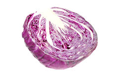 Middle head of red / purple cabbage Royalty Free Stock Photography